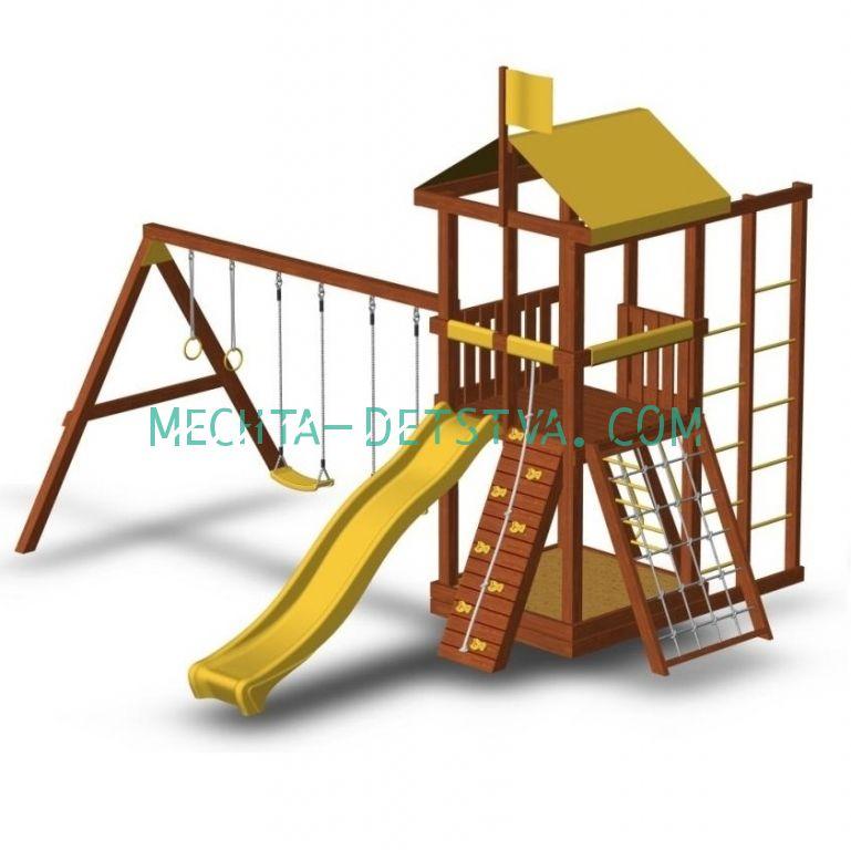 Деревянная детская площадка «Джунгли 6С»