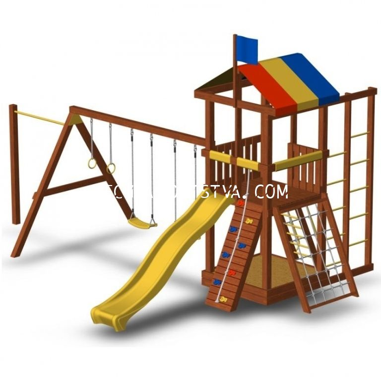 Детская площадка для дачи «Джунгли 6СТ»