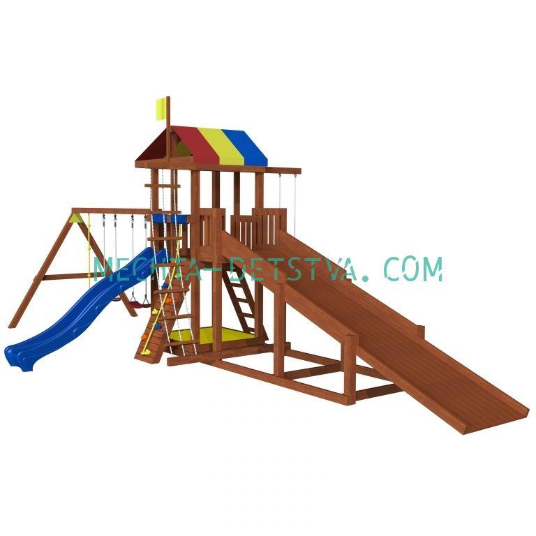 Детская площадка «Джунгли 9 с зимней горкой»